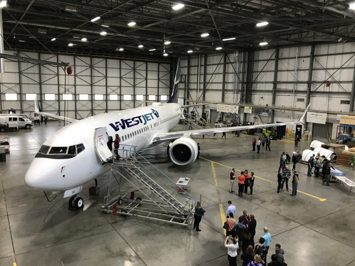 WESJET BOEING 737MAX AIRCRAFT